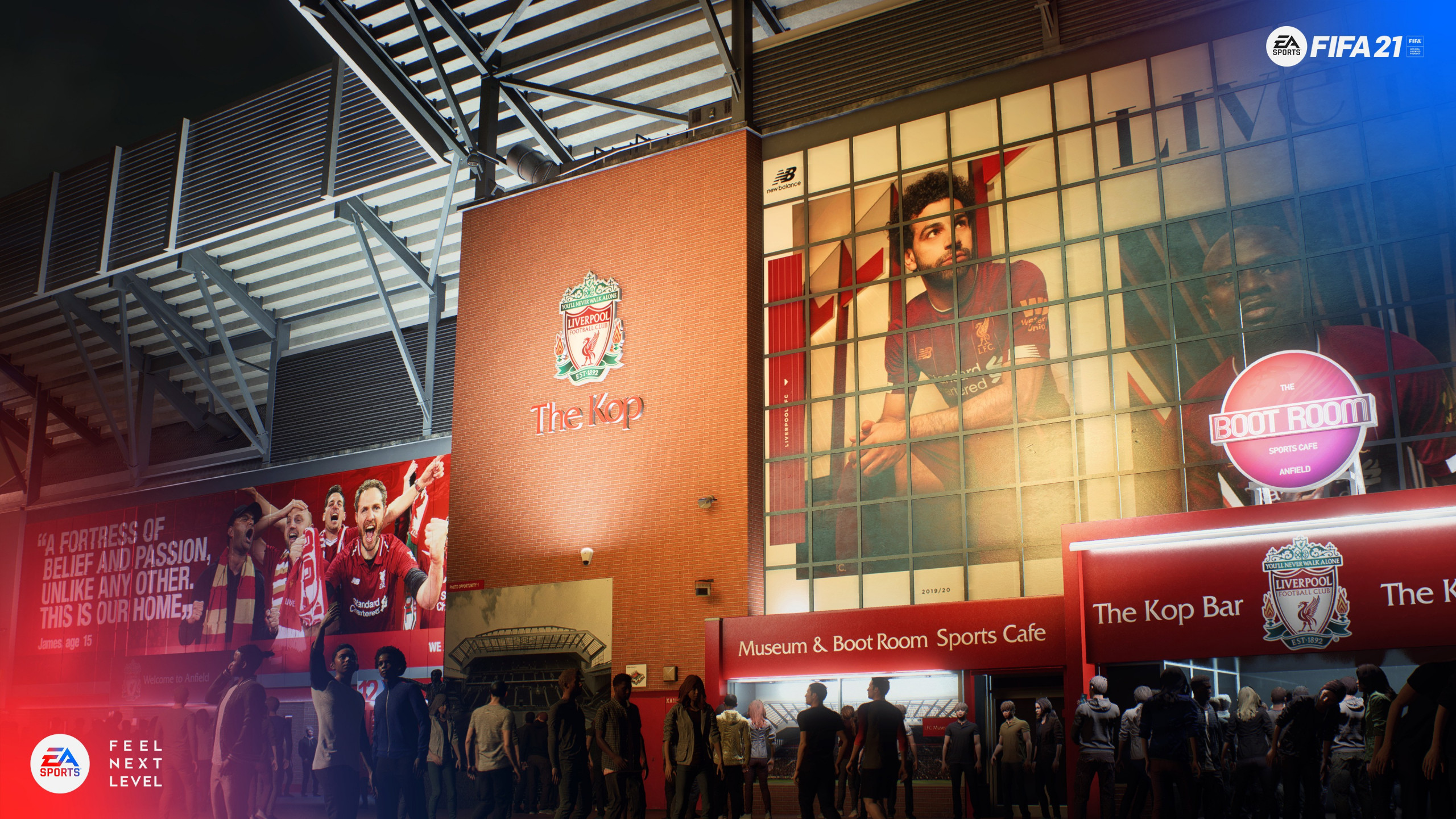 FIFA 21 Liverpool Stadium wallpaper 2560x1440
