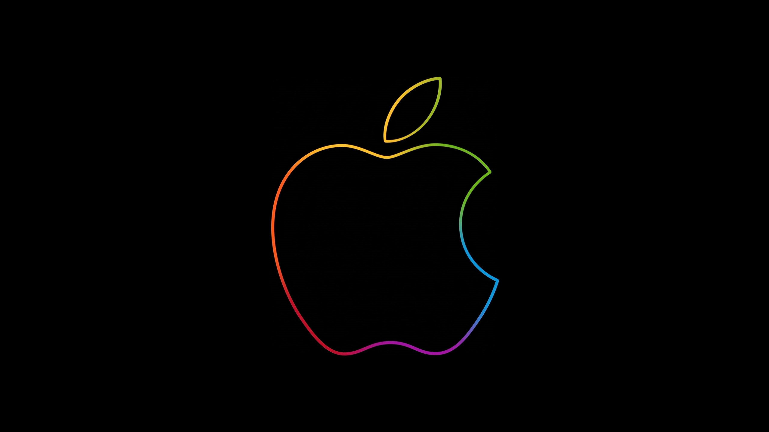 The famous Apple logo wallpaper 2560x1440