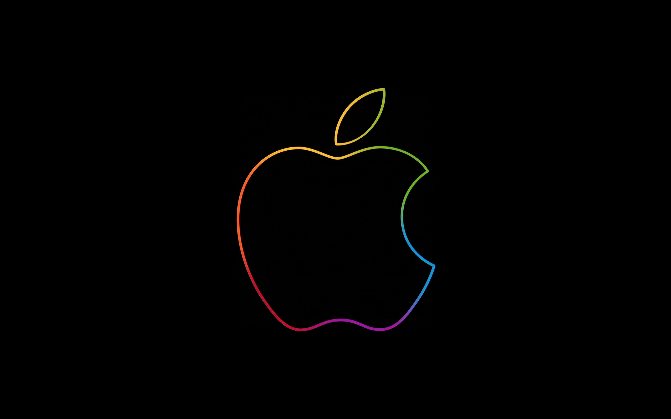 The famous Apple logo wallpaper 2560x1600