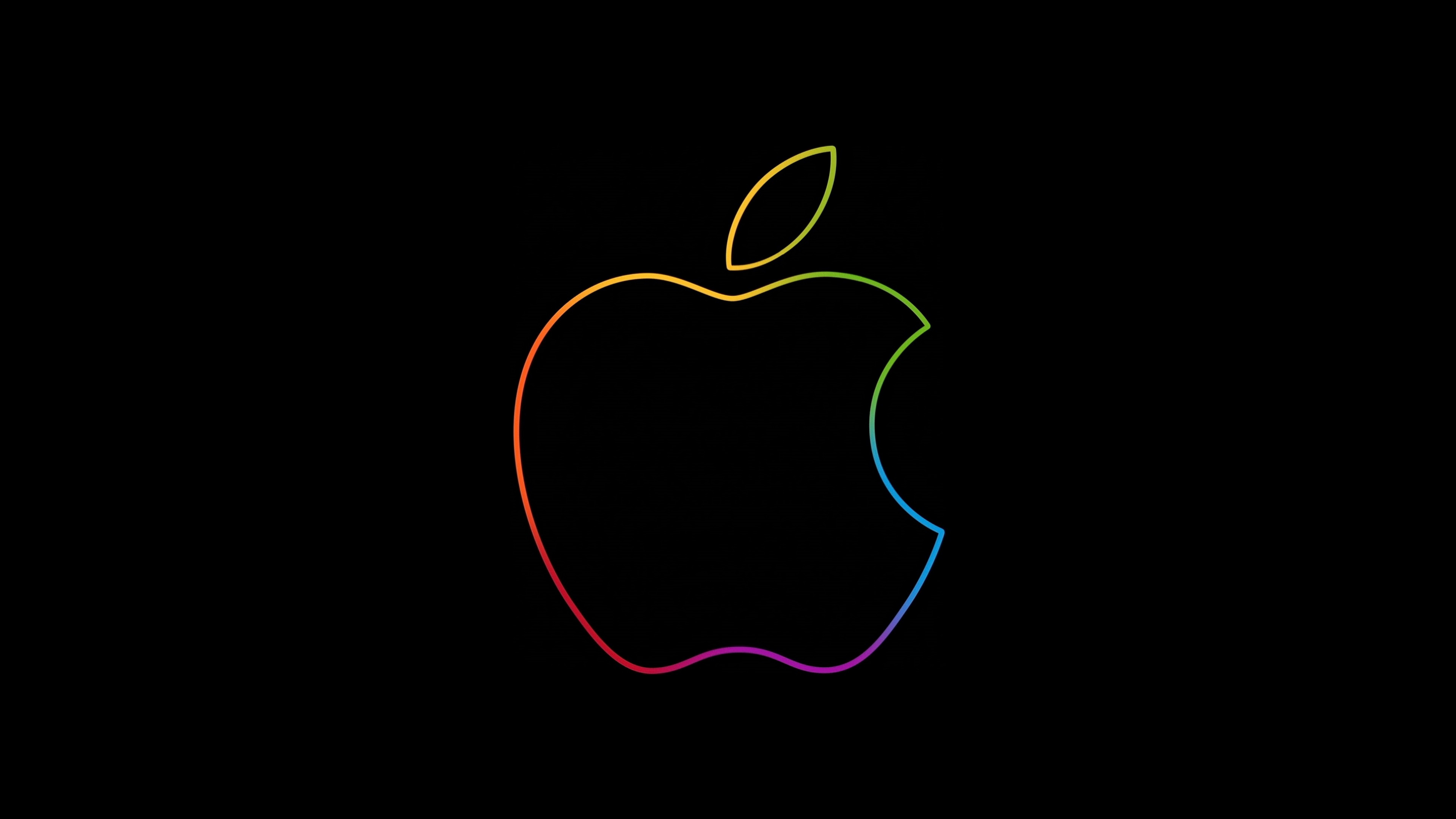 The famous Apple logo wallpaper 3840x2160