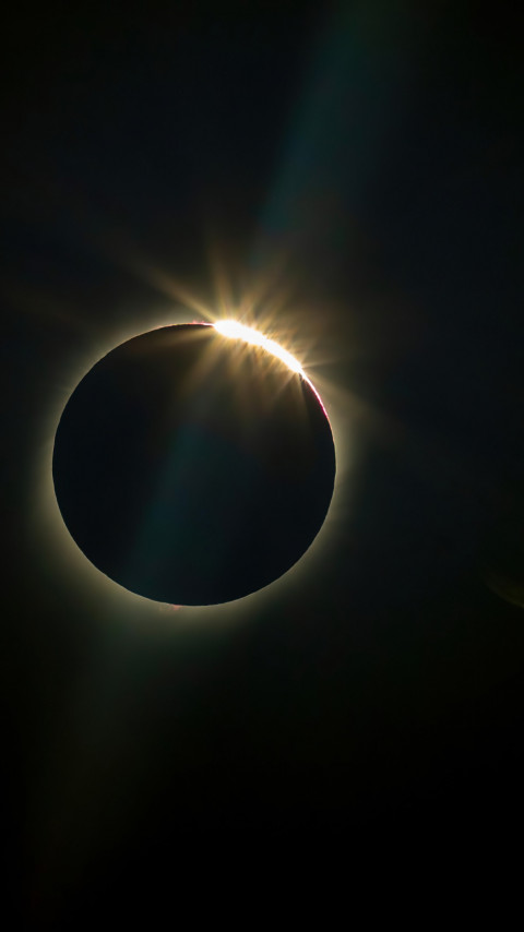 Sun eclipse wallpaper 480x854