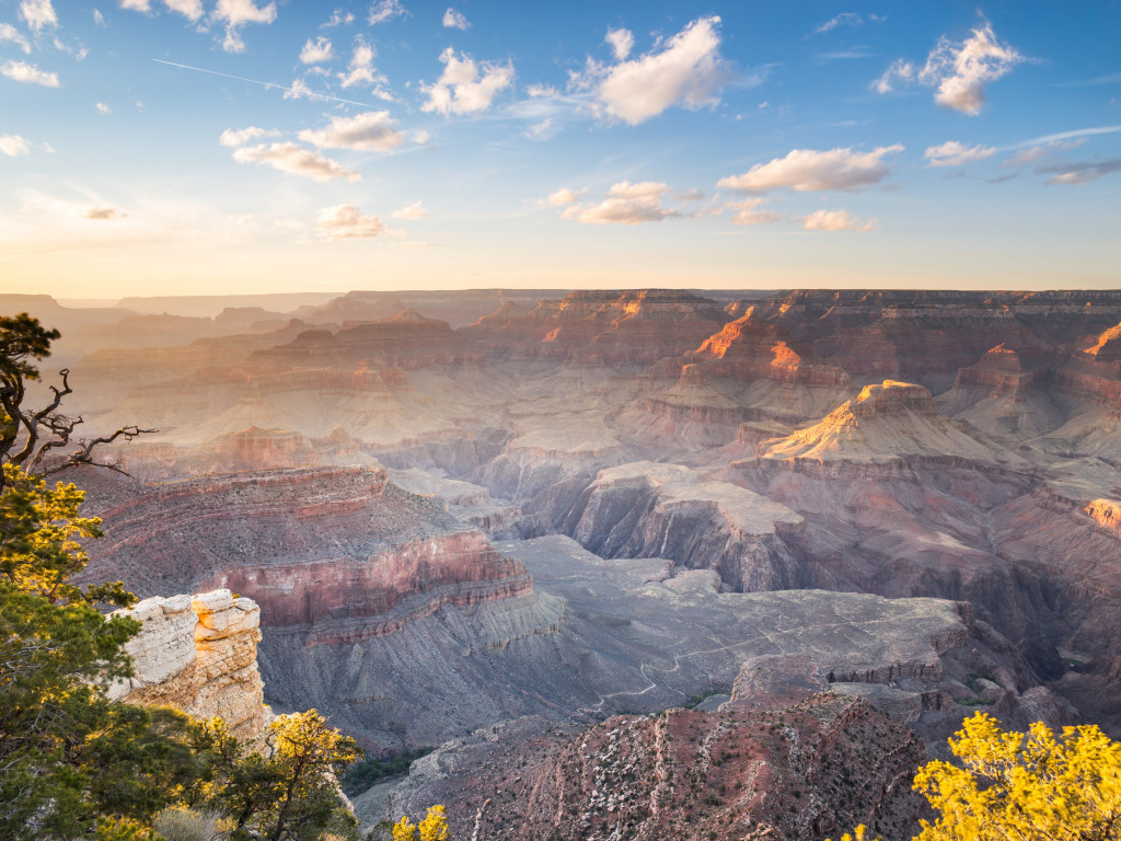 Sunset over the Grand Canyon wallpaper 1024x768