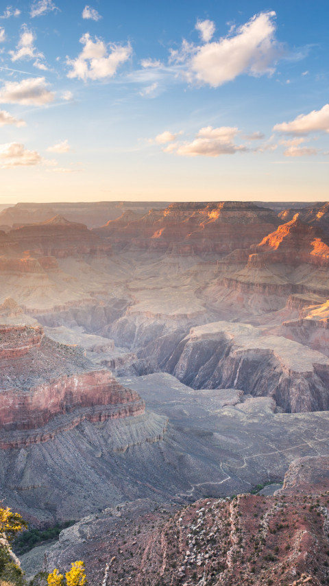 Sunset over the Grand Canyon wallpaper 480x854