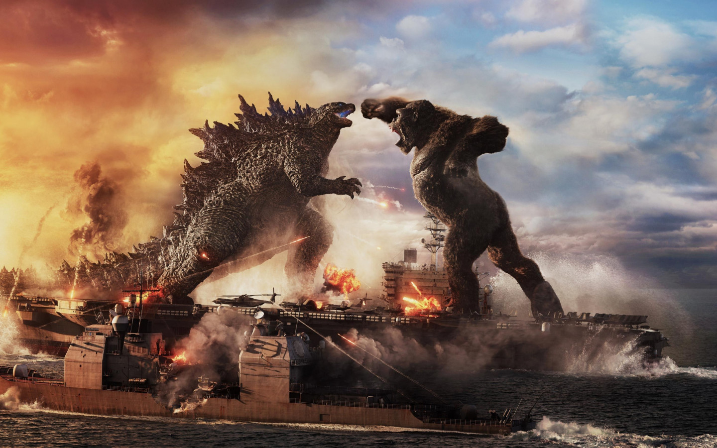 Godzilla vs Kong wallpaper 1440x900