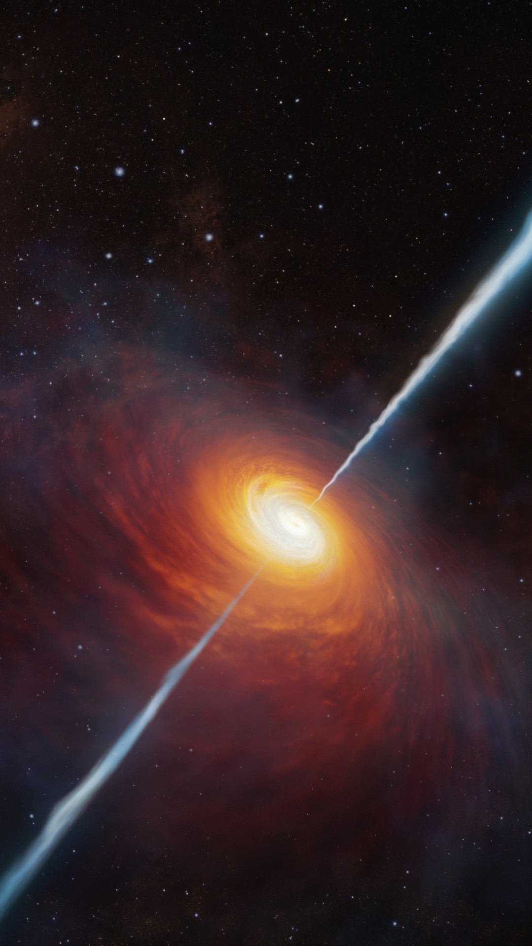 Distant quasar wallpaper 1080x1920