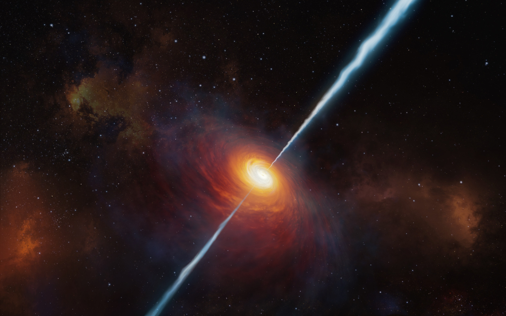 Distant quasar wallpaper 1920x1200